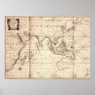"""Dutch East India Company"" (VOC) Trade Zone Poster"