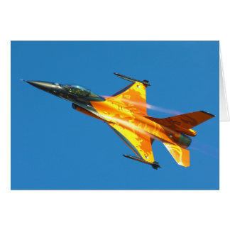 Dutch F-16 Fighting Falcon Jet Airplane Card