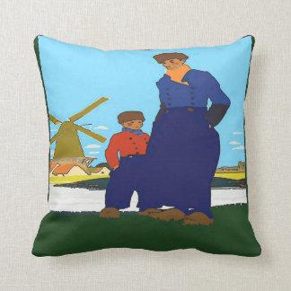 Dutch, Father & Son, add text Cushion