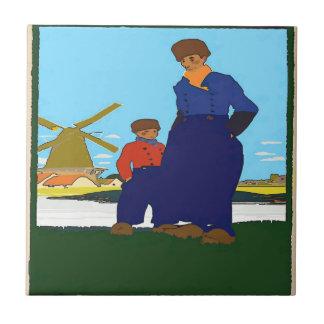 Dutch, Father & Son, add text Tile