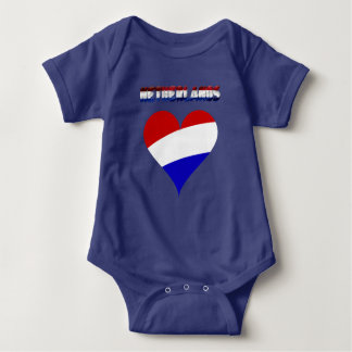 Dutch flag baby bodysuit