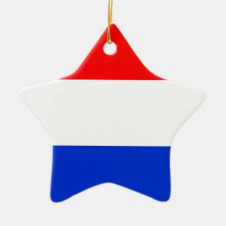 Dutch Flag Ceramic Star Decoration