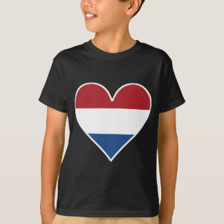 Dutch Flag Heart T-Shirt