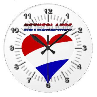 Dutch flag large clock
