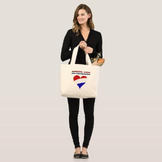 Dutch flag large tote bag