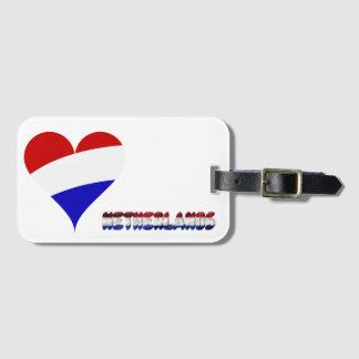 Dutch flag luggage tag