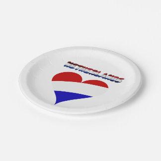 Dutch flag paper plate