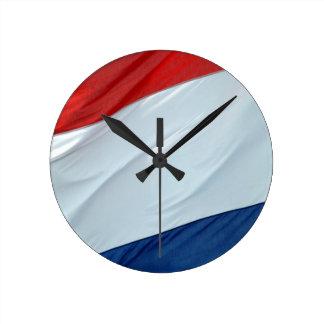 Dutch flag round clock