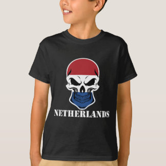 Dutch Flag Skull Netherlands T-Shirt