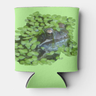 Dutch Frog Face with Duckweed Can Cooler