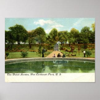 Dutch Garden, Van Cortlandt Park, NY Vintage Poster