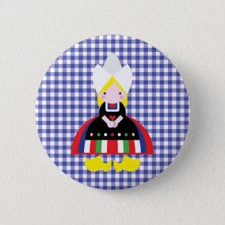 Dutch girl 6 cm round badge