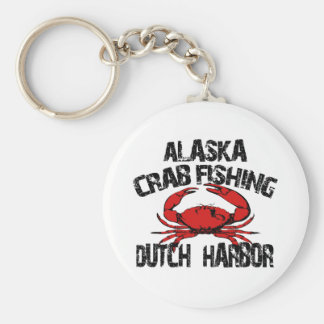 Dutch Harbor Alaska Crab Fishing Basic Round Button Key Ring