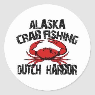 Dutch Harbor Alaska Crab Fishing Round Sticker