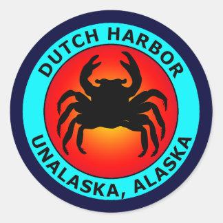 DUTCH HARBOR CLASSIC ROUND STICKER