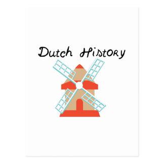 Dutch History Postcard