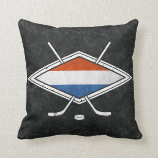 Dutch Ice Hockey Logo Cushion