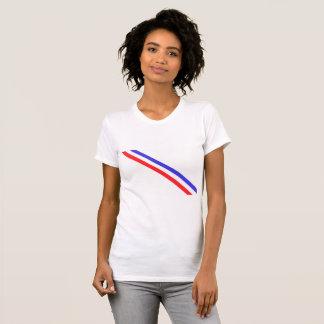 Dutch national stripes on a t-shirt