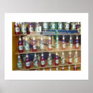 Dutch Photograph Bottles in Window Poster
