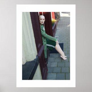 Dutch Photograph Door Mannequin Poster