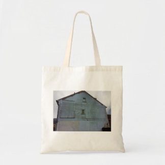 Dutch Photograph Gray Side of Building Tote Bag