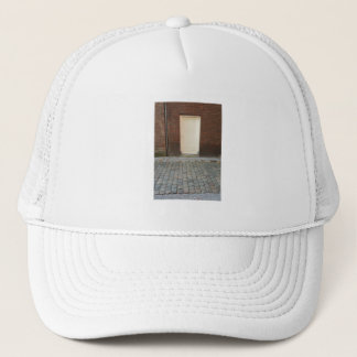 Dutch Photograph White Alley Door Trucker Hat