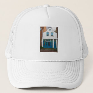 Dutch Photograph White and Blue House Trucker Hat