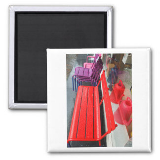 Dutch Photograph Window Reflection and Bench Magnet
