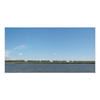Dutch Polder Landscape Panorama Photo Customized Photo Card