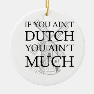 Dutch Pride Gear Ceramic Ornament