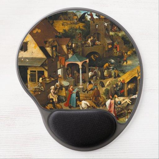 Dutch Proverbs by Pieter Bruegel the Elder Gel Mouse Mats