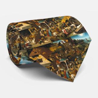 Dutch Proverbs by Pieter Bruegel the Elder Tie