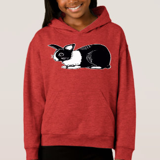 Dutch Rabbit Girls' Fleece Pullover Hoodie