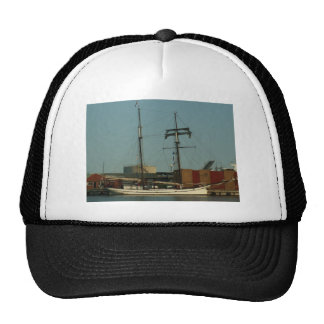 Dutch Schooner In Danish Harbor Cap
