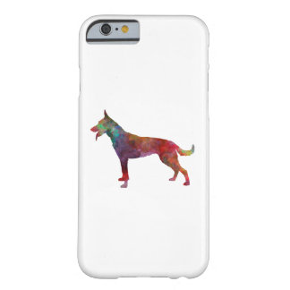Dutch Shepherd Dog in watercolor Barely There iPhone 6 Case