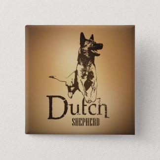 Dutch Shepherd - Dutchie 15 Cm Square Badge