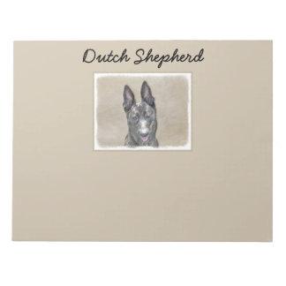 Dutch Shepherd Painting - Cute Original Dog Art Notepad