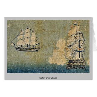 Dutch ship Ukiyoe Card