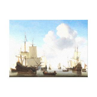 Dutch Ships, 1665 Canvas Print