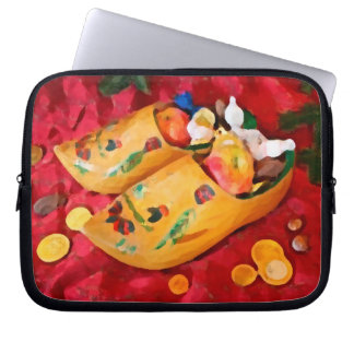 Dutch_shoes_ Merry Christmas_funda_10 Laptop Computer Sleeve