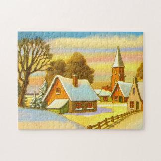 Dutch snow scene jigsaw puzzle