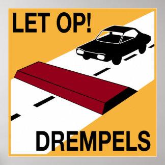 Dutch Speed bump sign