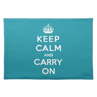 Dutch Teal Keep Calm and Carry On Place Mat