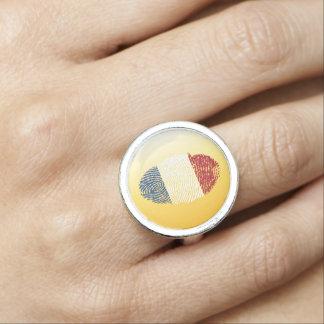 Dutch touch fingerprint flag ring