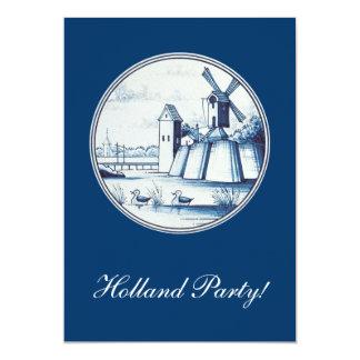 Dutch traditional blue tile card