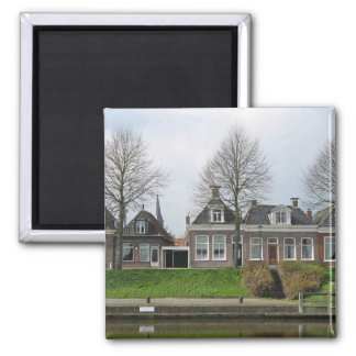 Dutch Traditional Row Houses Fridge Magnets