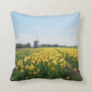 Dutch Tulips and Windmill Holland Cushion