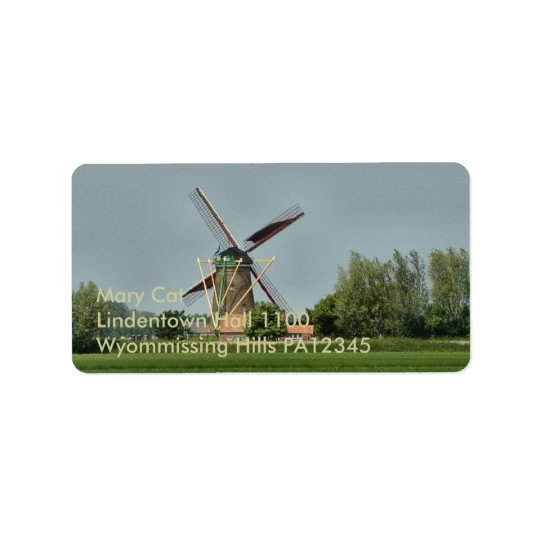 Dutch Windmill #1 Address Label