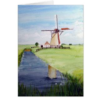 Dutch Windmill by Farida Greenfield Card