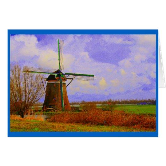 Dutch Windmill Card